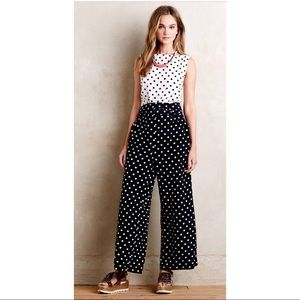 ✨RARE✨ Anthropologie Domino Dot Jumpsuit